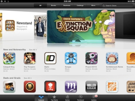The App Store in iOS6 on the iPad
