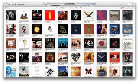 The album view in iTunes 11