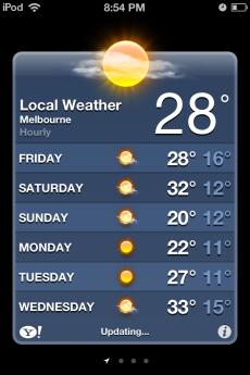 Gotta love summer in Melbourne